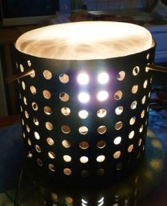 lampara con tapa de alabastro